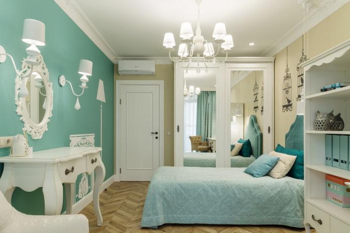 цветовая гамма спальни для девочки подростка