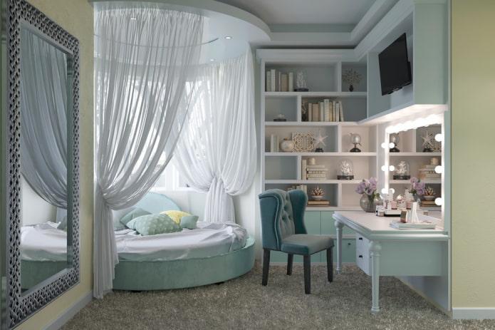 планировка спальни для девочки подростка