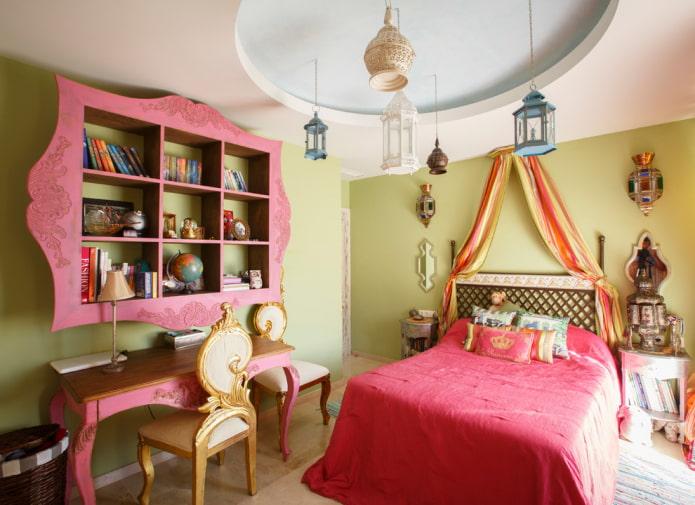 дизайн маленькой спальни для девочки подростка