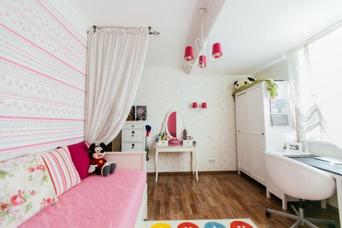 меблировка спальни для девочки подростка