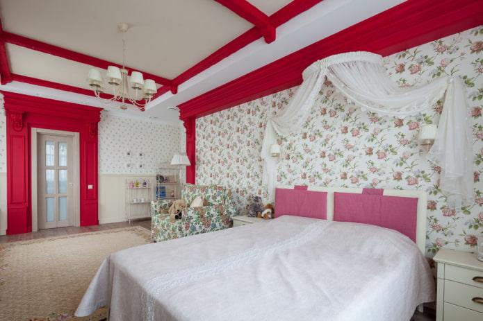 дизайн большой спальни для девочки подростка