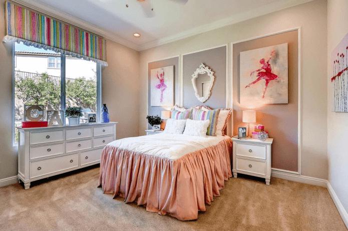 отделка спальни для девочки подростка