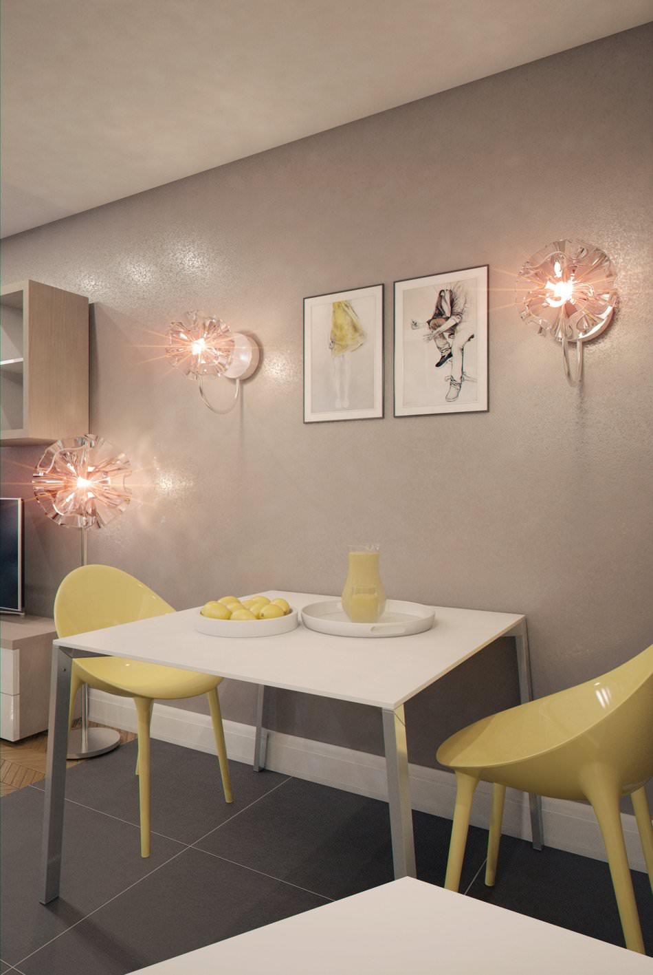 интерьер маленькой квартиры-студии 28 кв. м.