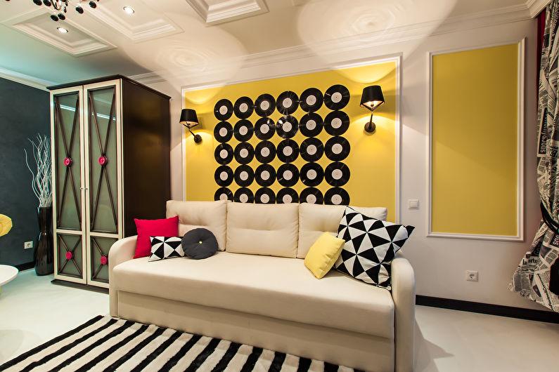 Комната для девочки-подростка в стиле поп-арт - Дизайн интерьера