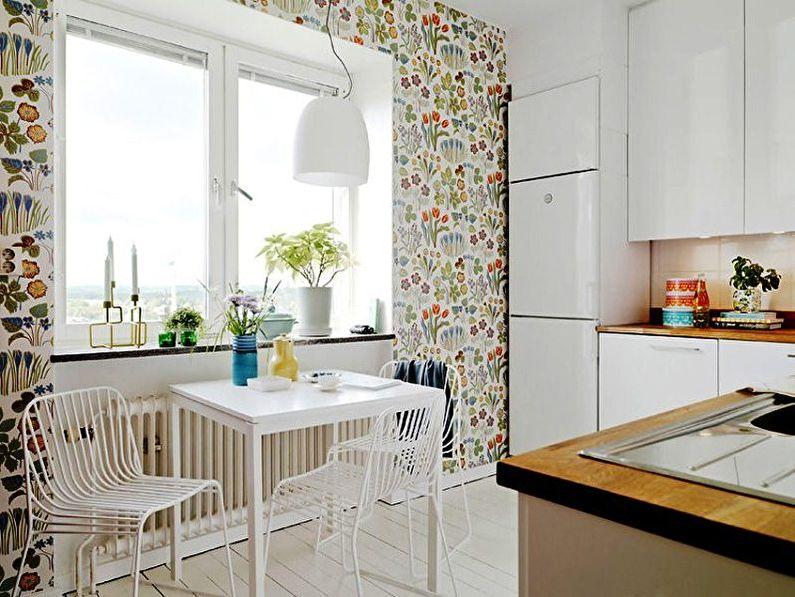 Обои для кухни в скандинавском стиле