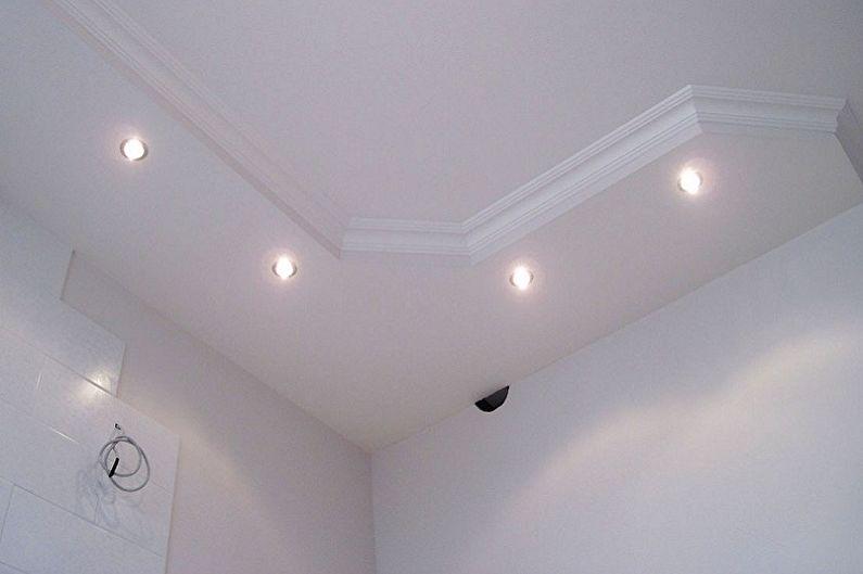 Дизайн маленькой ванной комнаты - Отделка потолка
