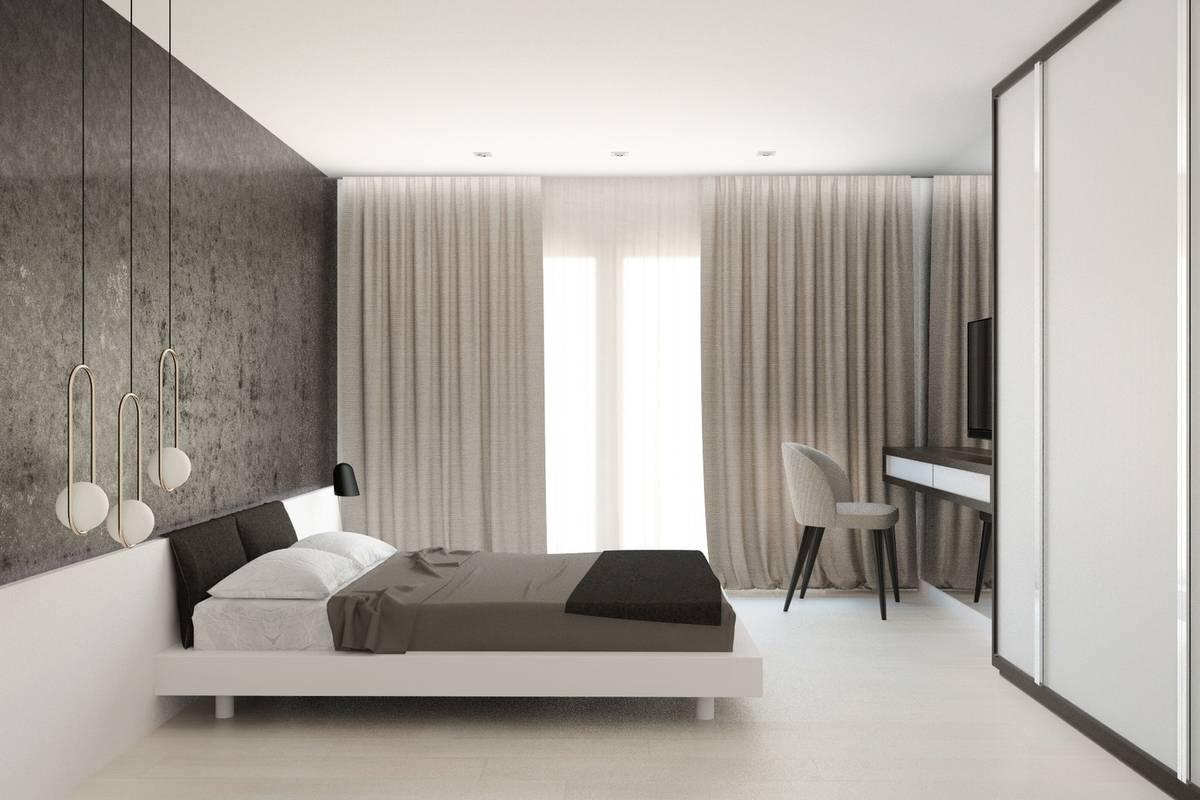 Спальня минимализм светлая