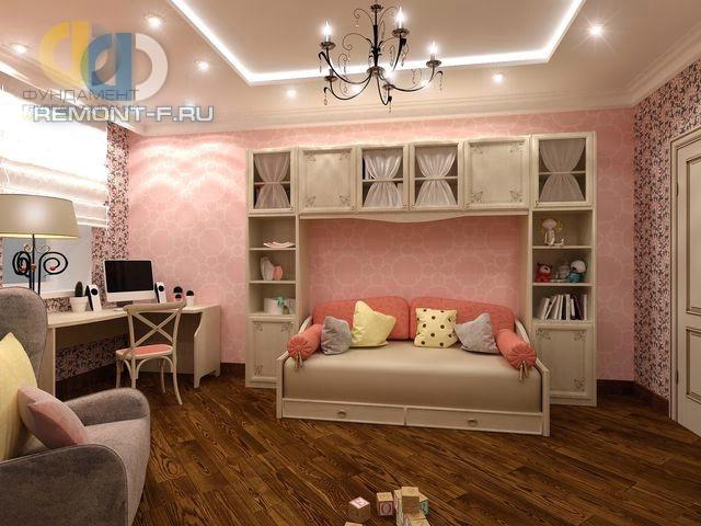 Интерьер уютной спальни для девочки-подростка в стиле прованс