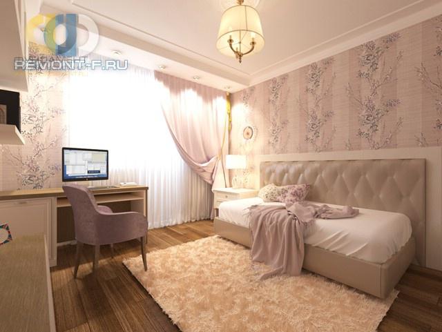 Дизайн нежной девичьей спальни в стиле неоклассика