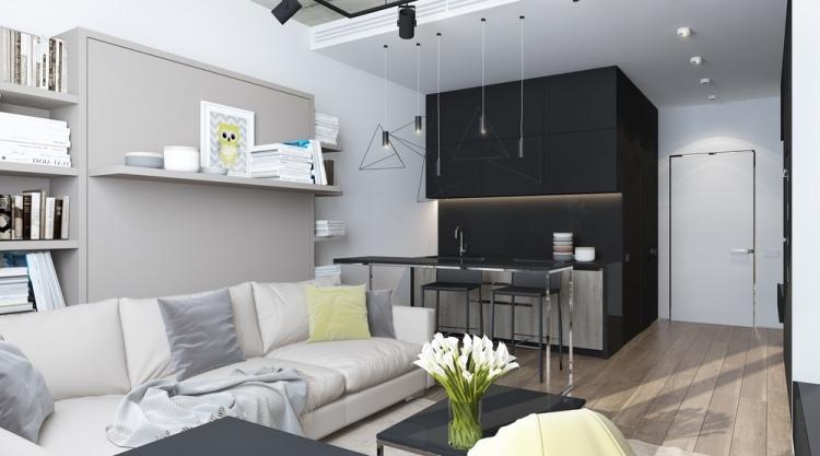 3 интерьер квартиры-студии 30 кв м