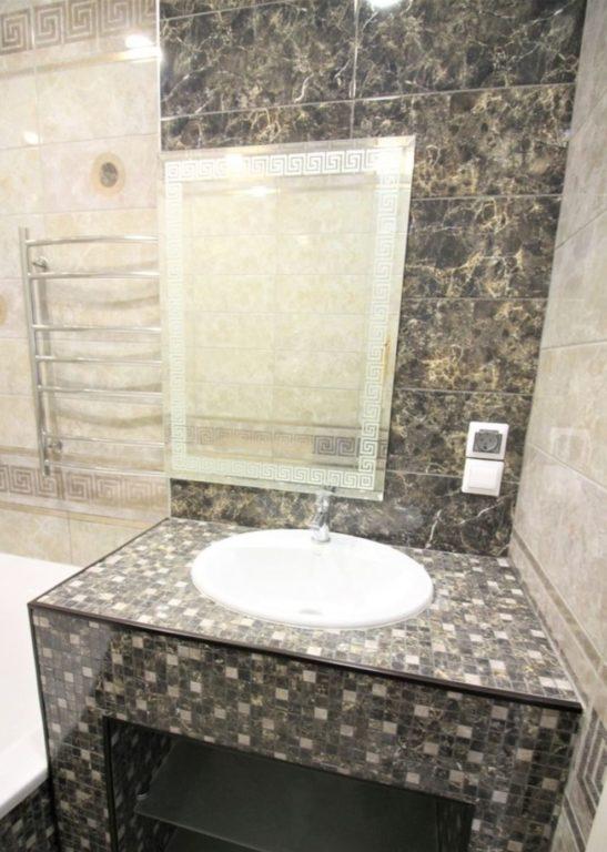 Дизайн столешницы из плитки мозаики
