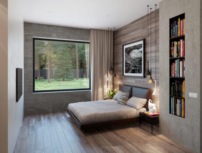 Интерьер маленькой современной спальни