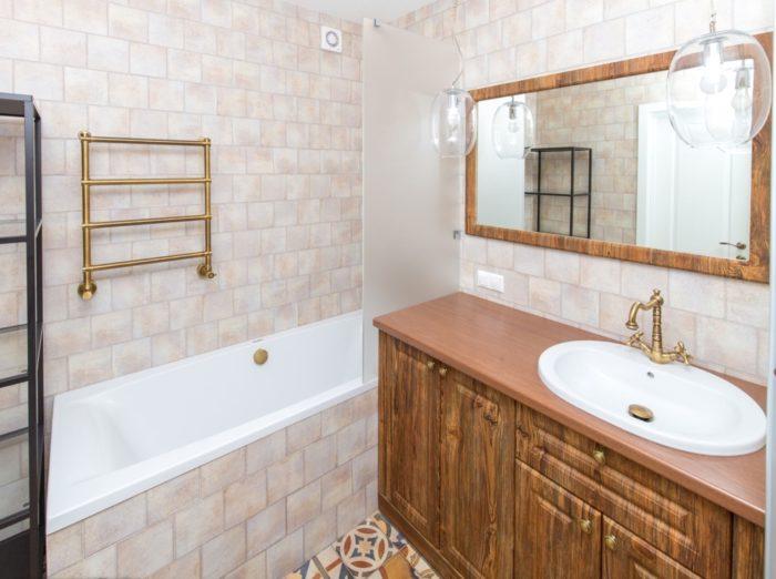 Необычный дизайн плитки в ванной