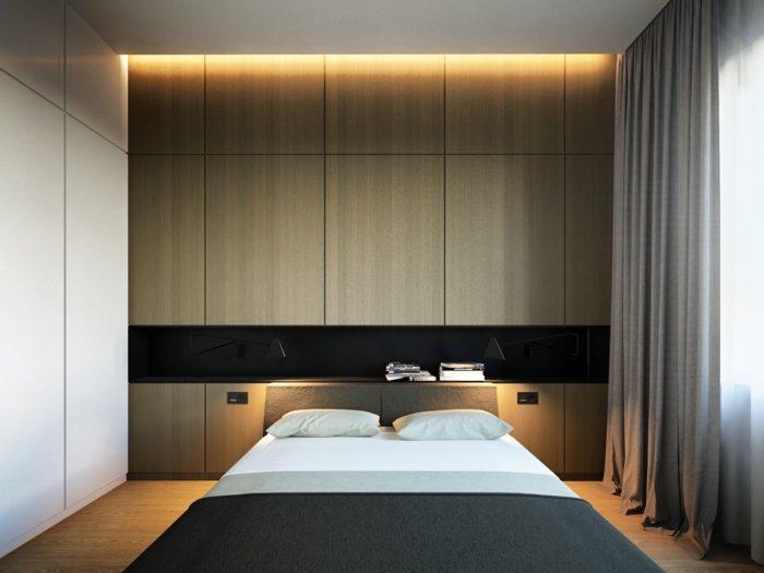Ниша с подсветкой в современной спальне