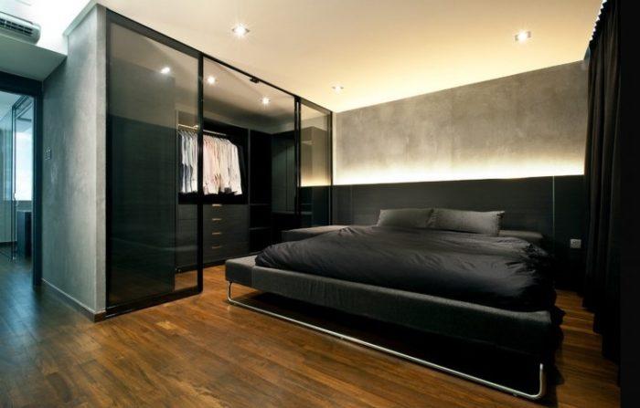 Спальня в стиле современный лофт
