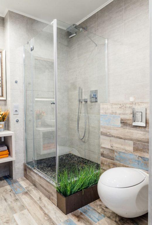 Зонирование ванной комнаты дизайном плитки #дизайн #ванная