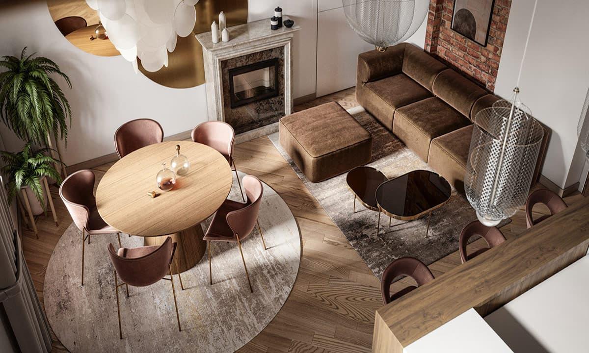 модный дизайн гостиной фото 1