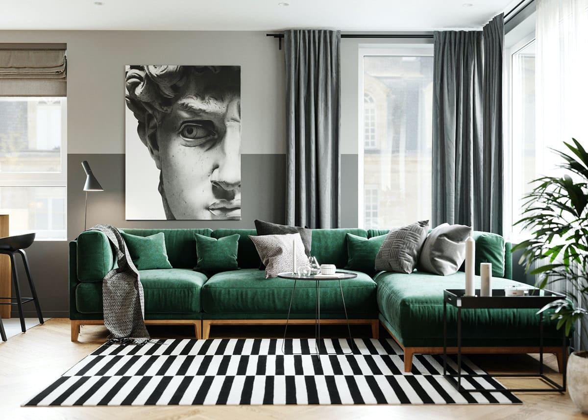 модный дизайн гостиной фото 9
