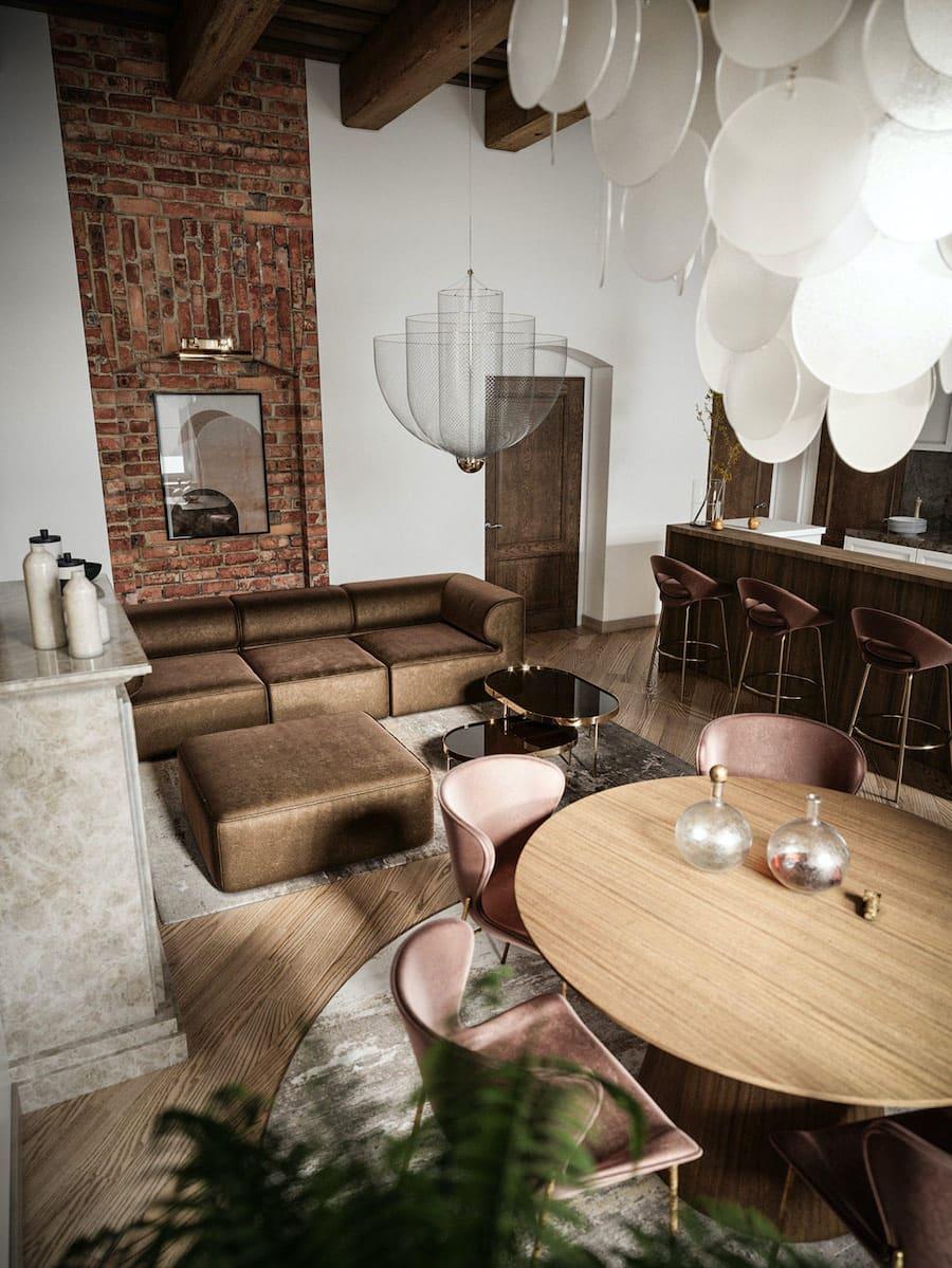 модный дизайн гостиной фото 2