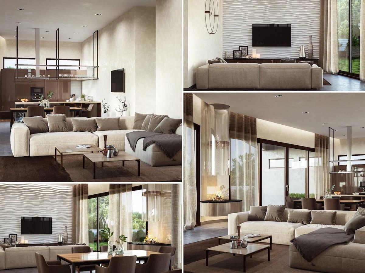 модный дизайн гостиной фото 19