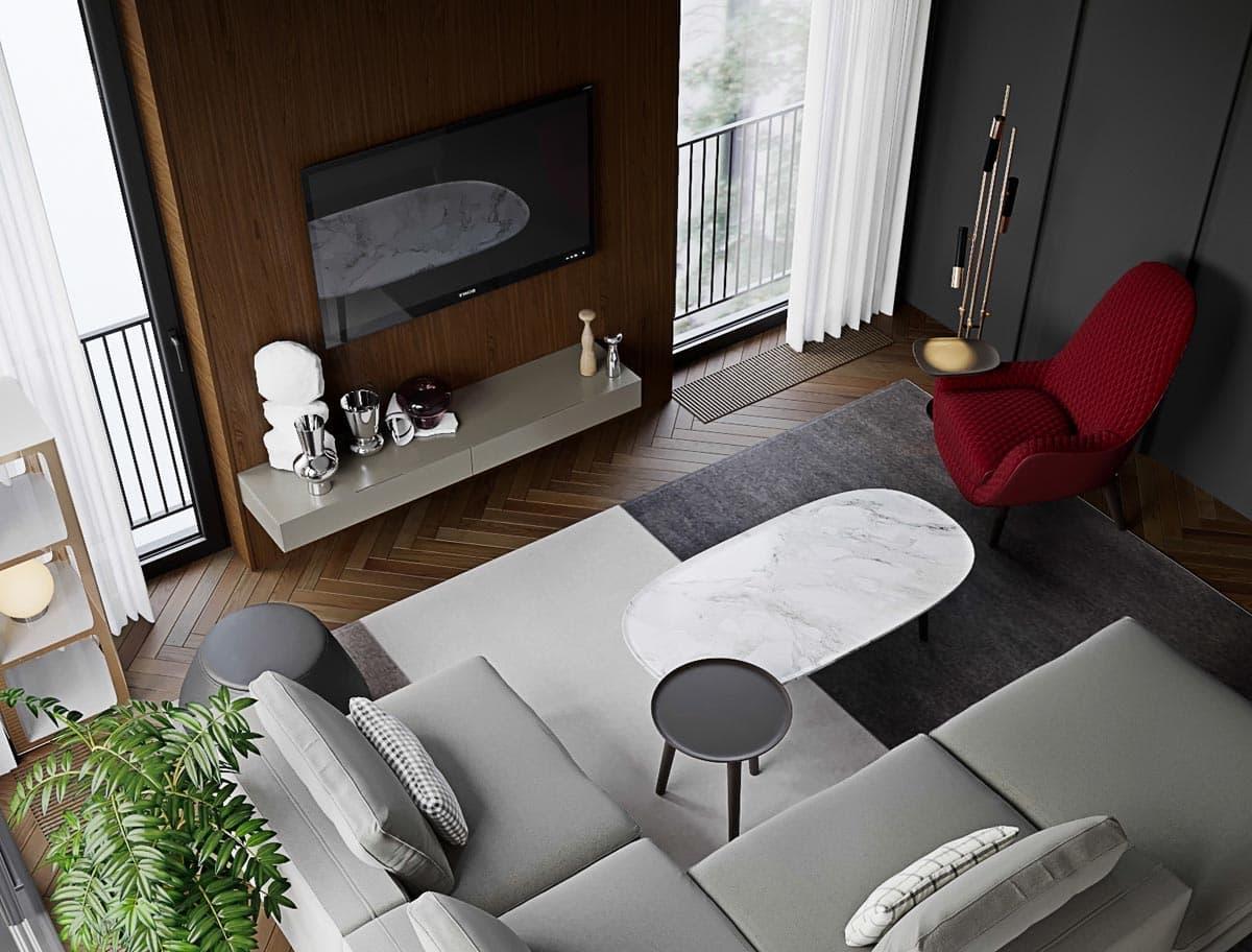 модный дизайн гостиной фото 21