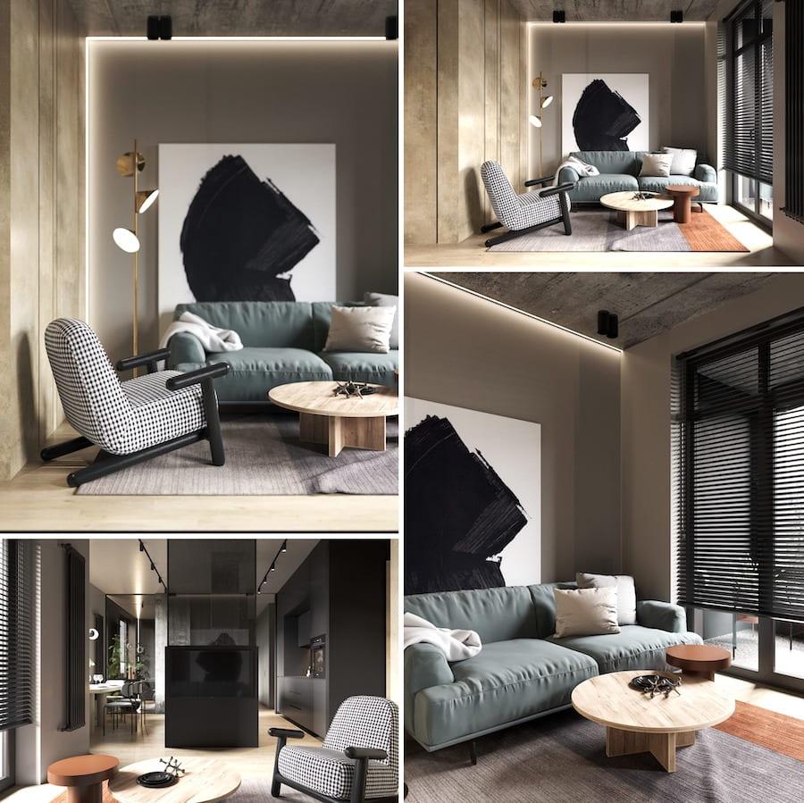 модный дизайн гостиной фото 25