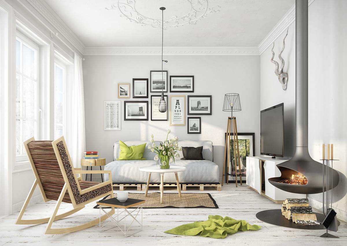модный дизайн гостиной фото 7