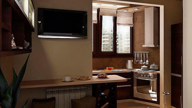 Можно ли делать кухни на балконе или лоджии?