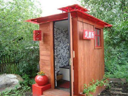 Дизайн дачного туалета