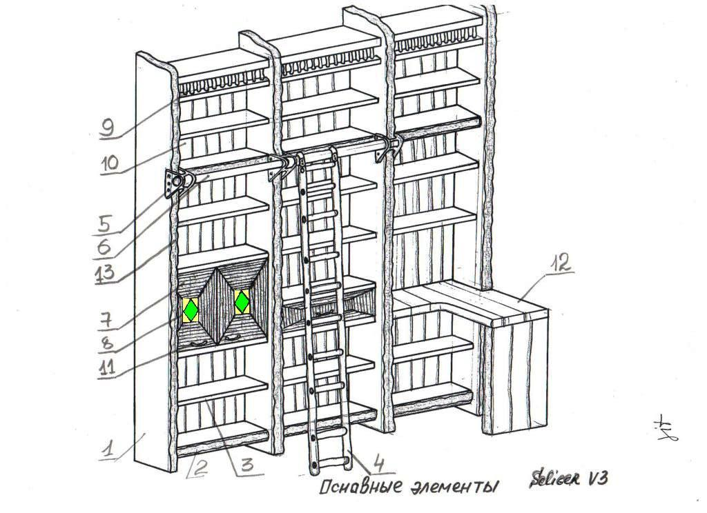Пример проекта стеллажа