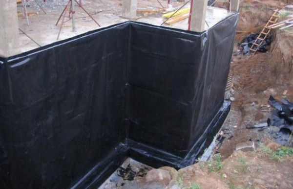 Применение рубероида при проведении гидроизоляции