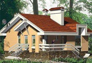 Проект одноэтажного дома с гаражом и подвалом