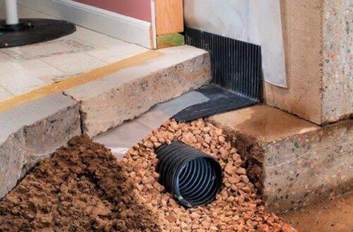 Дренаж в подвале дома