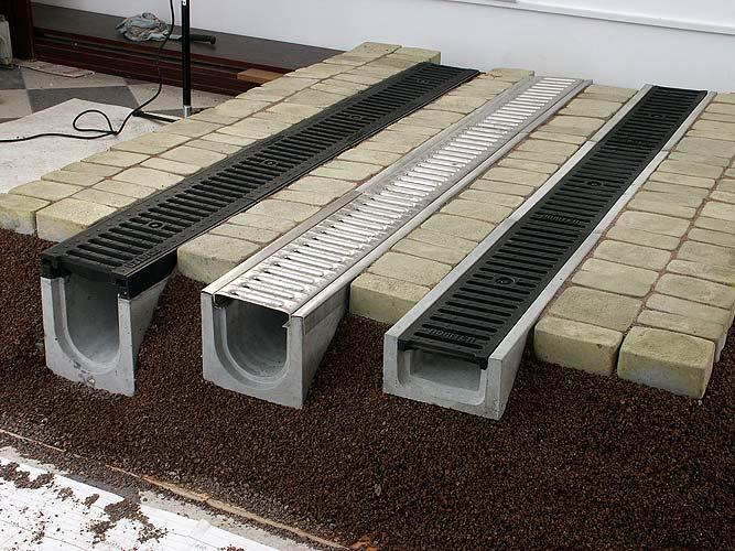 Дренажная система для приусадебного участка: водоотводные лотки