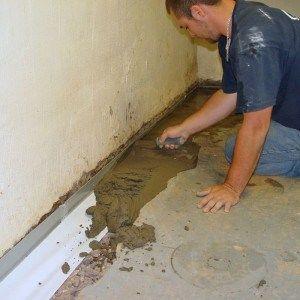 Герметизация стыков стен пола