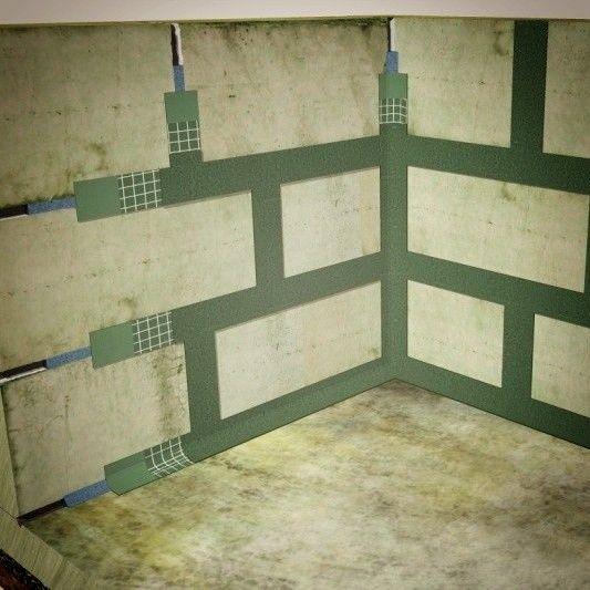 Шовная гидроизоляция стен из блоков ФБС