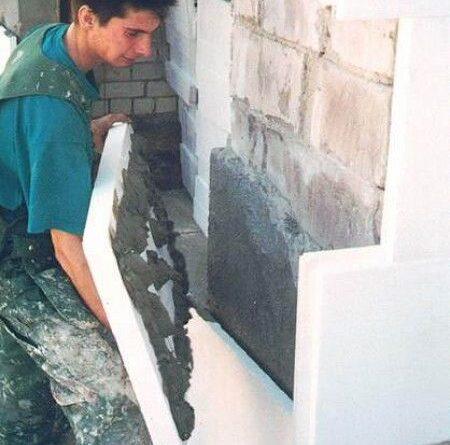 Утепление стен в подвале