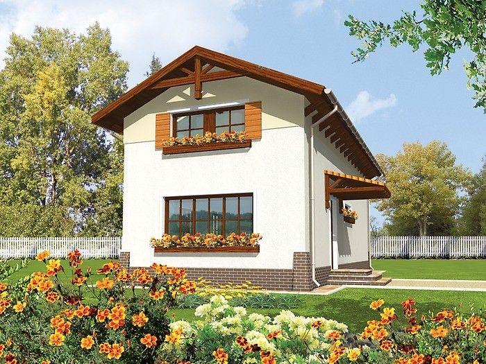 Проект двухэтажного дома без подвала