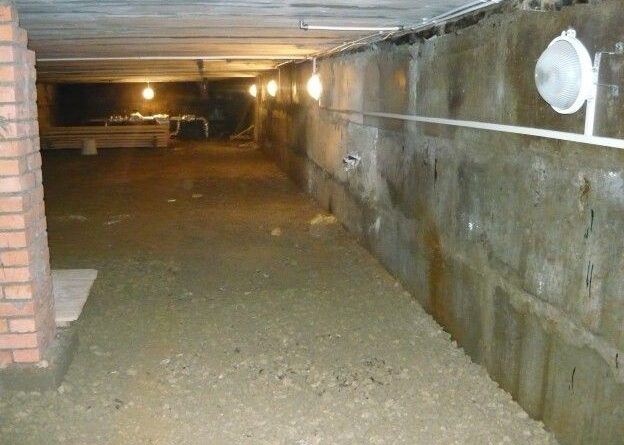 Прокладка кабеля по подвалу