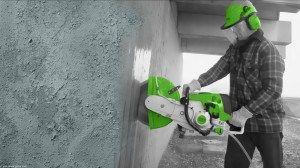 Резка бетона алмазным инструментом