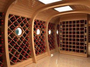 Вариант внутреннего дизайна винного погреба