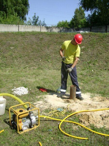 проверка уровня грунтовых вод