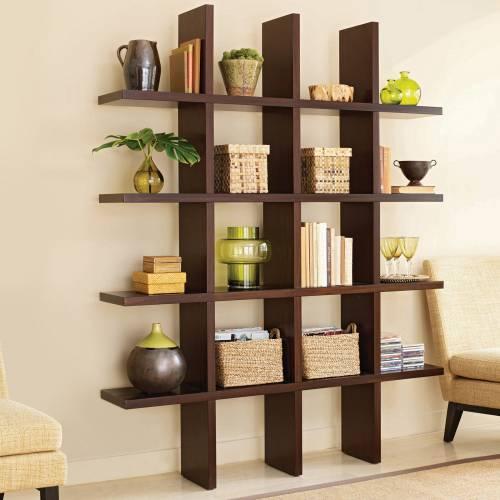 Простейший вариант деревянного стеллажа