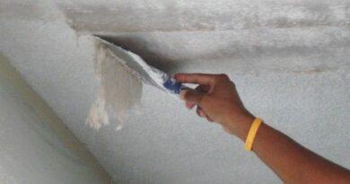 Как снять побелку с потолка без грязи