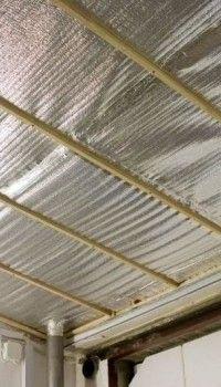 Вариант утепления потолка изолоном