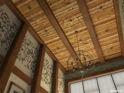 Дизайн потолка с открытыми балками: стиль Прованс