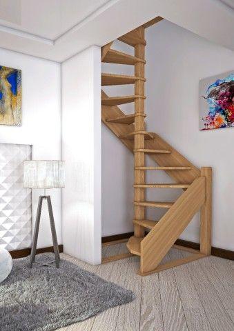 Лестница цокольного этажа, устанавливаемая в стеснённых условиях