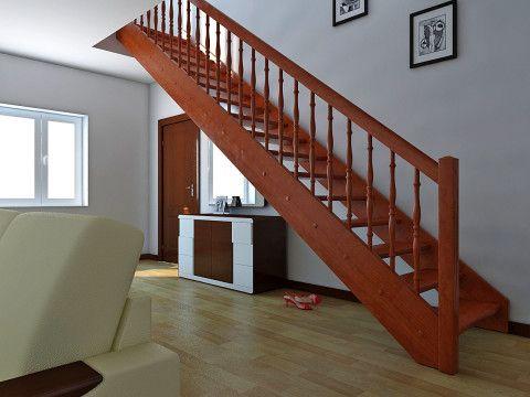 Прямая лестница с одним маршем