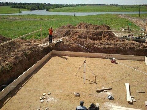 Песчаная подготовка под фундамент