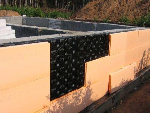 Вертикальная гидро- и теплоизоляция стен снаружи